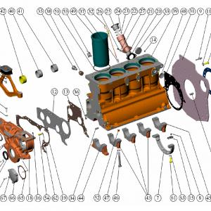 Bloc motor D-243