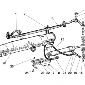 Cilindru hidraulic (varianta cu axa pe față)