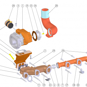 Montarea turbosuflantei